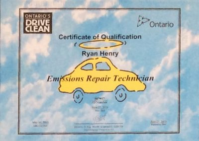 Certificate of Qualification-Ryan Henry-1